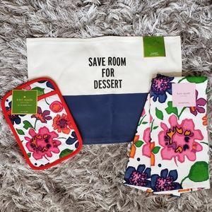 Kate Spade Floral Save Room For Dessert Table Set